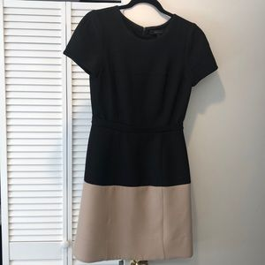 BCBG Black & tan A line dress